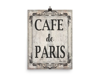 Cafe De Paris Poster Print