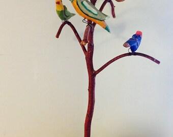 Bird Tree-Strawser, Woodcarving by Timothy W. Strawser