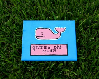 Preppy Whale Sorority Canvas