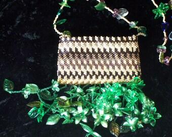 Flower Basket Amulet Bag Necklace