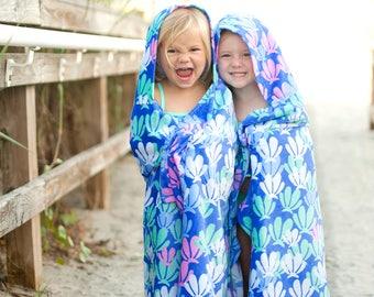 Monogrammed Kids Children Baby Hooded Towel Beach Swim Pool