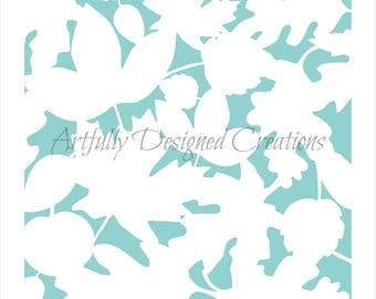 Leaf Silhouette Background Stencil