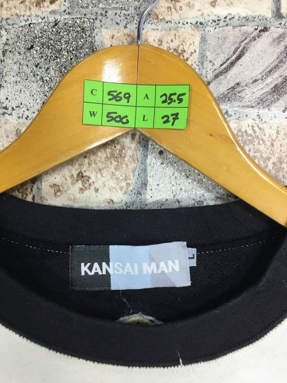 MAN Kansai Y's Kansai Designer Sweatshirt Japan L Yamamoto KANSAI Size Sweaters Yohji Large Jumper Miyake Street Crewneck Target Art dHwICpPq