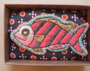 Funky Zebra fish brooch