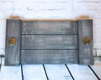 Handmade wooden tray, rustic tray, decorative tray