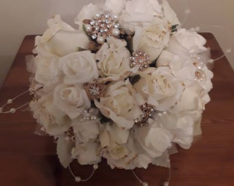 Bejewlled wedding bouquet