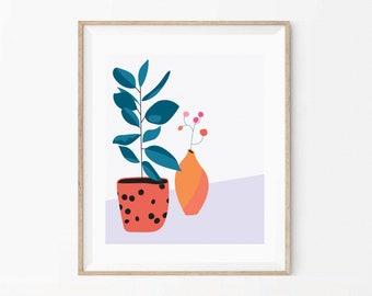 "Houseplants Print 10""x8"""