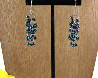 Shaggy loop chainmail earrings