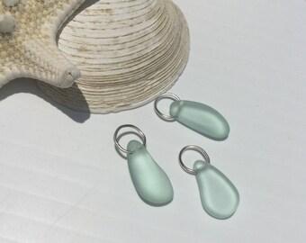 Sea Glass Charm ~ Add A Beach Glass Charm ~ Cultured Sea Glass ~Sea Glass Necklace ~ Add A Seaglass Dangle~ Custom Jewelry ~wedding Necklace
