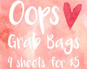 Oops Grab Bags | Misfits Stickers | Misfits Grab Bags | Erin Condren Planner Stickers | Journal Stickers | Diary Stickers