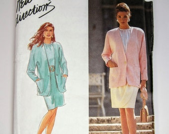 Simplicity 7443 Sewing Pattern Misses' Blouse, Skirt & Jacket Sizes 14 - 22 Uncut