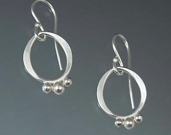 Baubles earrings handmade in Argentium silver