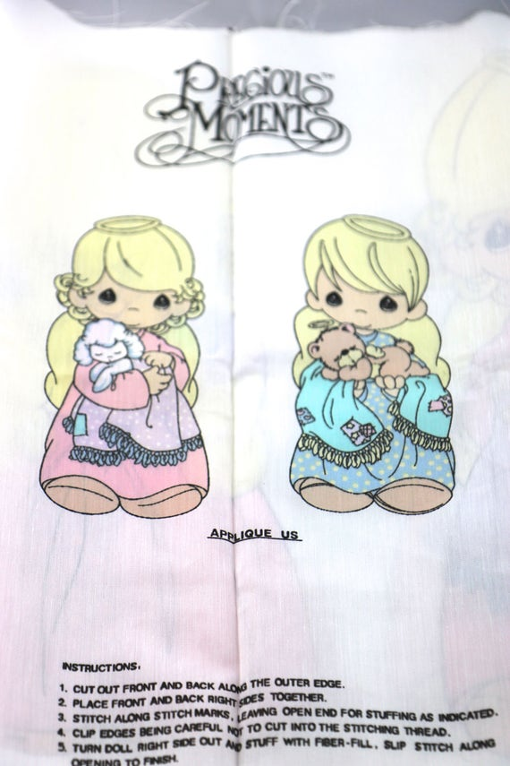 Vintage Precious Moments Cut and Sew Fabric Patterns, Doll Patterns ...