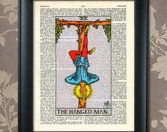 The Hanged Man, Tarot Card Print, Tarot Card Poster, Tarot Print, Tarot art, Tarot wall art, Tarot Gift, Tarot Cards, Tarot Deck, Arcana