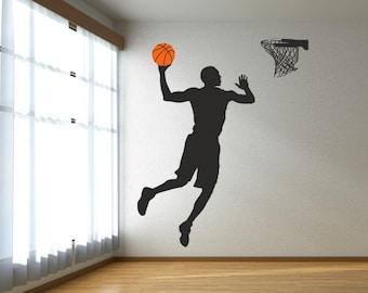 Basketball player Wall decal, Basketball decal, Sports wall decal, Basketball Decor Boy Room, Basketball decoration 068