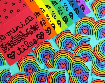 Rainbow Mini Tiles (set of 35 prints)