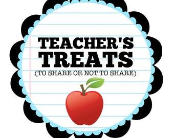 Teacher's Treats Sign for Teacher Appreciation Week