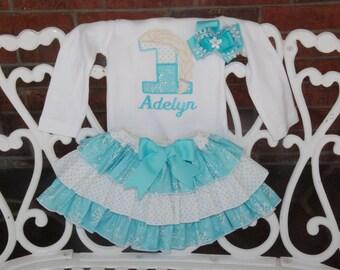 Elsa Birthday Outfit! Queen Elsa Applique Number with Name! Elsa Outfit/Elsa Birthday Applique/Elsa Applique Outfit/Frozen Elsa Birthday