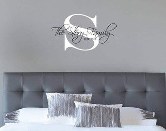 Family Decal - Personalized Wall Decals -  Nursery Wall Decal - Vinyl Decal - Removable Wall Decal - Room Decor [003]