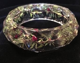 Bewitching Flower Bangle Bracelet