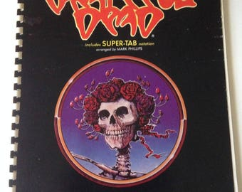 Rare Vintage 1986 Songbook THE GRATEFUL DEAD Guitar Superstar Series