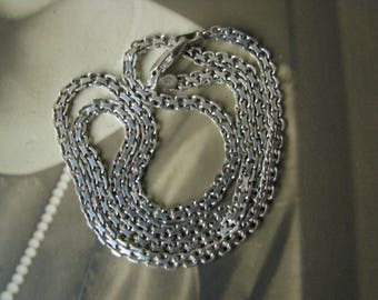 Vintage Sterling Silver Mesh Link Necklace, Sterling Silver Mesh Necklace, Italian Silver Necklace
