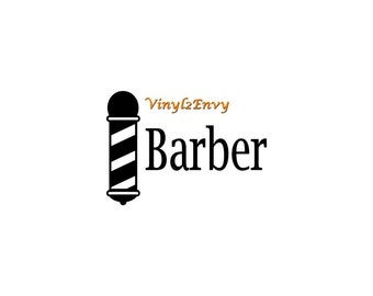 Barber Decal - Car Decal - Vinyl Car Decals, Window Decal, Signage, Barber Pole Decal
