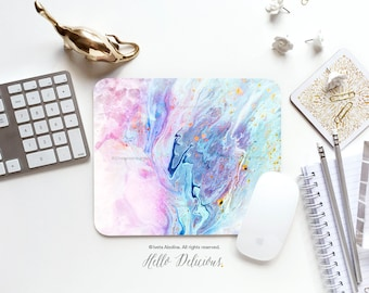 Mouse Pad Mousepad Pastel Marbled Print Mouse Mat Marble Mouse Pad Office Mousemat Rectangular Mousemat Pink Marbled Mousepad Round 125.