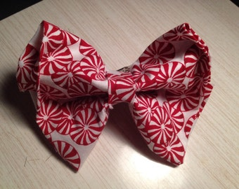 Candyland Peppermint Candy Hair Bow