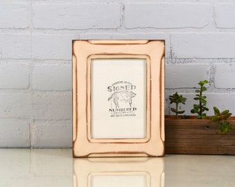 "5x7"" Picture Frame in Wide Bones Style with Super Vintage Ivory Finish - IN STOCK - Same Day Shipping - 5 x 7 Photo Frame - Rustic Frame"