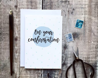 On Your Confirmation Card - Izzy and Pop - Confirmation Cards - Confirmation Gifts - Christian Cards - Church Cards - Christian Gifts