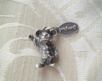 Vintage Sterling Disneyland Waving Mickey Mouse Charm