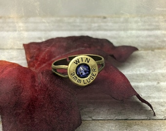 Bullet ring, bullet jewelry, simple bullet ring