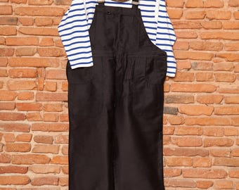 Black French Work Overall deadstock 1960