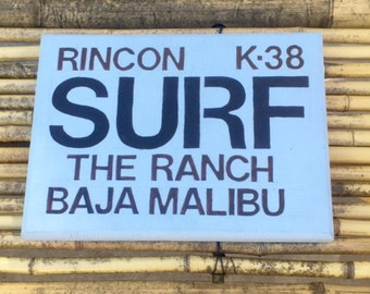 Surf Wood Sign