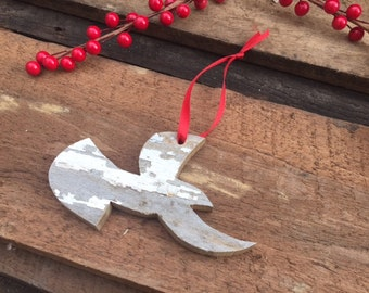 Christmas Ornament Doves- dove ornaments made from reclaimed wood