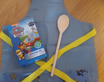Children's Baking Kit with Handmade Apron - Boys NEW