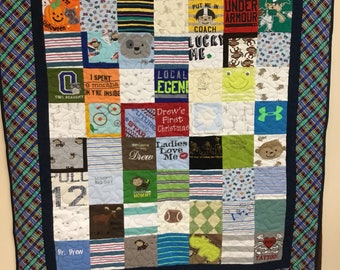 Memory Quilt, Baby Clothes Quilt, (Price listed is a deposit)