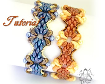 Tutorial Juliet Bracelet pdf Pattern, with Zoliduo beads and Superduo beads Instructions English Only,