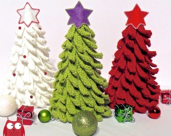 001 christmas tree new year pattern amigurumi crochet pattern christmas pattern home decoration by sharapova etsy - Christmas Tree Decorated With Owls