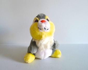 Vintage Disney Thumper Plush Stuffed Animal Bunny