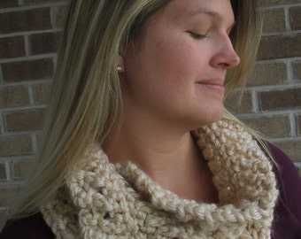 """Crochet Pattern: """"Knotted Threads"""" Cowl, Permission to Sell Finished Items"""