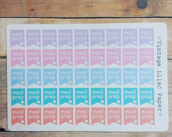 45 Meal Prep Banner Planner Stickers: Perfect for Erin Condren, Happy Planner, and Personal Planners!