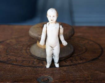 19th Century German Bisque Doll with Articulated Arms