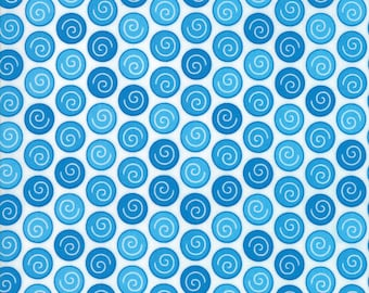 Rainy Day Blue Dot fabric by Me & My Sister Designs for Moda Fabrics #22294-12 Sidewalk Crack Dot