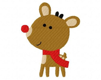 Red Nose Reindeer, Embroidery Pattern, Rudolph, Machine Embroidery, Embroidery Designs, Christmas, Machine Embroidery Designs