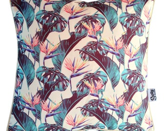 Bird of Paradise Outdoor Scatter Pillow Cushion COVER