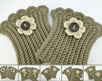 Boot Cuffs, Boot Cuffs Womens, Boot Cuffs Wool, Boot Cuffs Crochet, Boot Cuffs Women Crochet, Boot Cuffs, Boot Sock / Sandycraft
