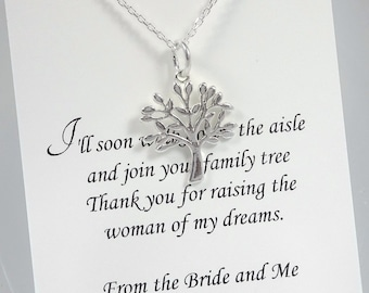 Mother of the Groom Gift, Mother In Law Gift, Gift for Mother in Law, Tree of Life Necklace, Sterling Silver Tree of Life Necklace, Mom Gift