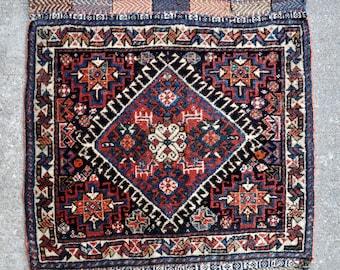 "Qashqai bagface, Tribal Persian Saddle bag front panel - 24"" x 24"" - 61 x 60 cm. - Free shipping!"